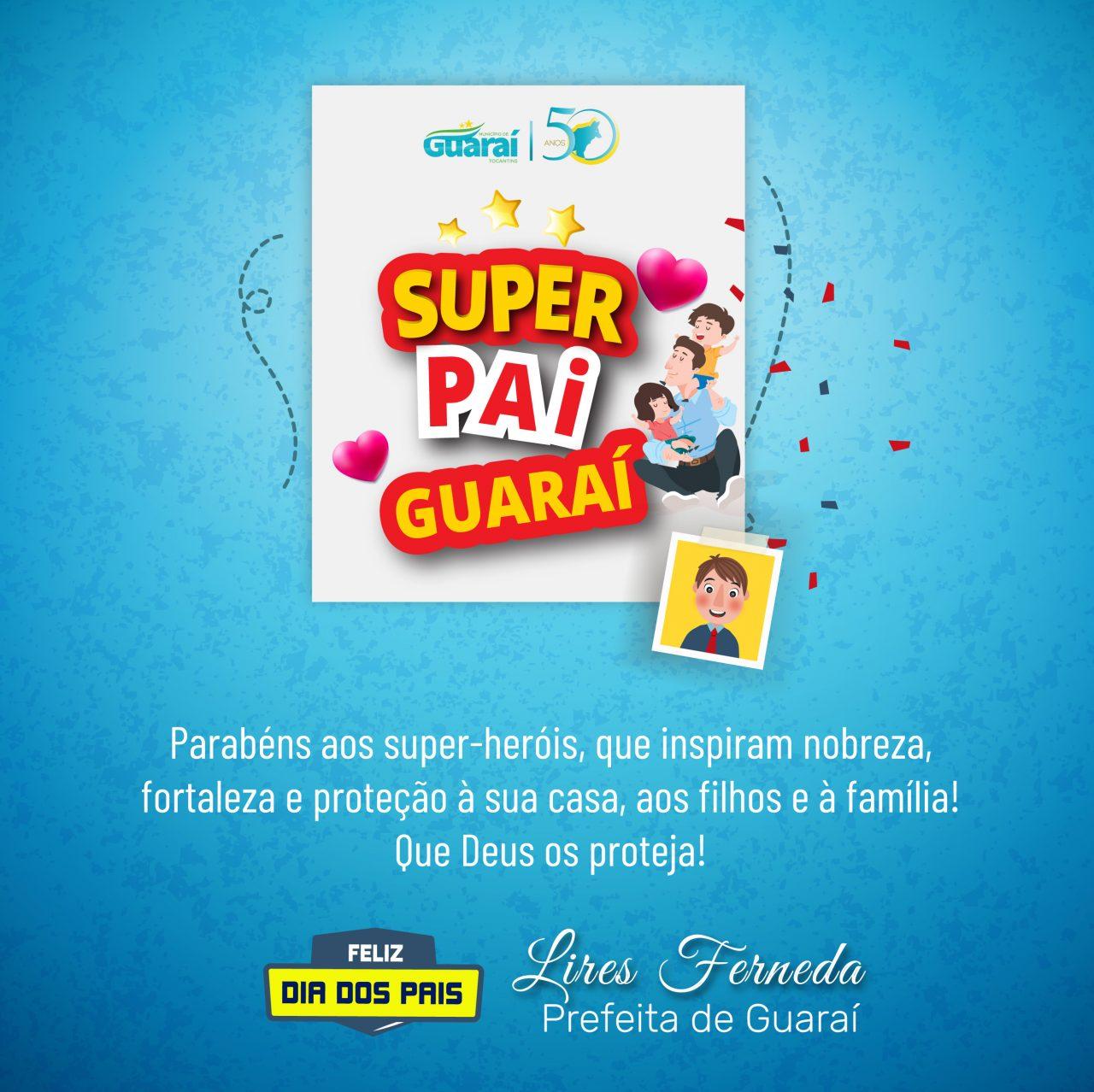 CARTAO LIRES 1280x1278 - Dia dos Pais: promovido pela Prefeitura de Guaraí, campanha ganha interação e homenagens das famílias aos papais guaraienses